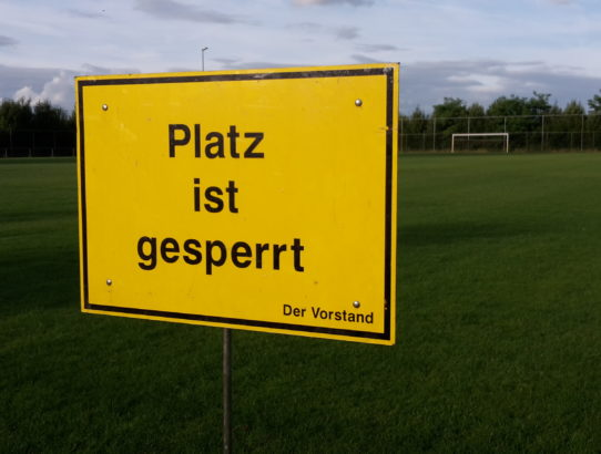 Sport- und Trainingsbetrieb wird ab sofort eingestellt